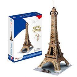 3D puzzle: Eiffel torony CubicFun 3D híres épület makettek
