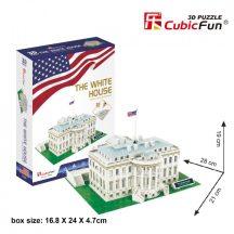 3D puzzle: Fehér Ház (USA) Cubicfun 3D épület makettek