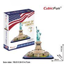 3D puzzle: Szabadságszobor (USA) CubicFun 3D híres épület makett