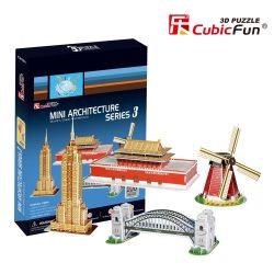 3D puzzle: Mini Architectures series - 3 CubicFun 3D building
