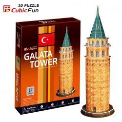 3D puzzle: Galata Tower CubicFun 3D building models