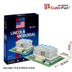 3D puzzle: Lincoln-emlékmű CubicFun 3D híres történelmi épület makettek