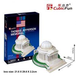 3D puzzle: Jefferson-emlékmű CubicFun 3D híres történelmi épület makettek