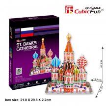 3D puzzle: Boldog Vazul-székesegyház CubicFun 3D híres épületek