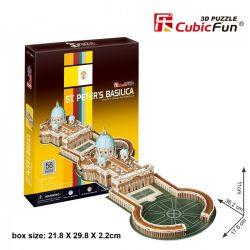 3D puzzle: Szent Péter bazilika CubicFun 3D híres épület makett