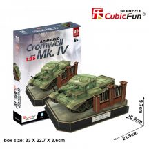 3D puzzle: British Cromwell MK. IV tank CubicFun 3D military vehicle models