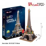 3d LED lighting puzzle: Eiffel tower (France) Cubicfun 3D building models