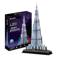 3d led világítós puzzle: Burj Khalifa (Dubai) Cubicfun 3D épület makettek