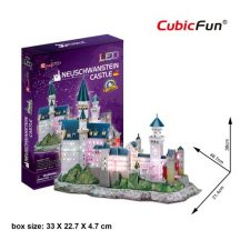 3d LED lighting puzzle: Neuschwanstein castle CubicFun 3D building models
