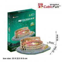 3d LED világítós puzzle: Colosseum (Italy) Cubicfun 3D épület makettek