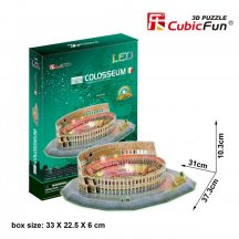 3d LED lighting puzzle: Colosseum (Italy) Cubicfun 3D building models