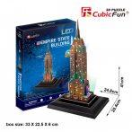 3d LED lighting puzzle: Empire State Building (USA) Cubicfun 3D building models