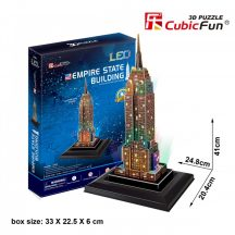 3d LED lighting puzzle: Empire State Building (USA) Cubicfun 3D building models