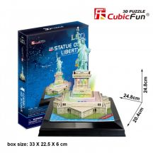 3d LED lighting puzzle: Statue of Liberty (USA) Cubicfun 3D building models