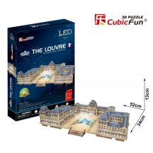 3d LED lighting puzzle: The Louvre Cubicfun 3D building models