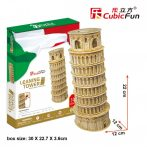 3D puzzle: Leaning Tower of Pisa Cubicfun building models