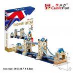 3D puzzle: Tower Bridge Cubicfun 3D épület makett