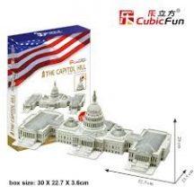 3D puzzle: az Egyesült Államok Capitoliuma Cubicfun 3D épület makett