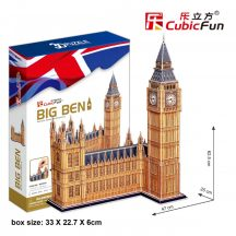 3D profi puzzle: Big Ben CubicFun 3D híres épületek