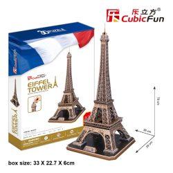 3D professional puzzle: Eiffel tower CubicFun 3D building models