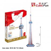 3D puzzle: Canada's National Tower Cubicfun 3D building models