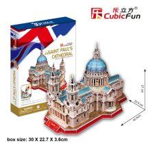 3D puzzle: Szent Pál katedrális (UK) CubicFun 3D híres épület makettek