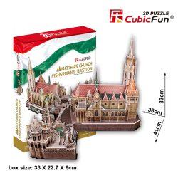 3D puzzle: Mátyás templom / Halászbástya Cubicfun 3D híres magyar épület makettek