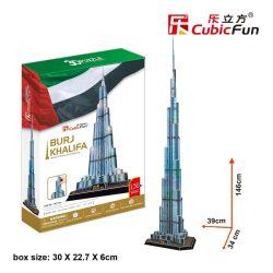 3D profi puzzle: Burdzs Khalifa (Dubai) CubicFun 3D híres épületek