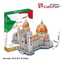 3D puzzle: Firenzei dóm Cubicfun 3D épület makettek