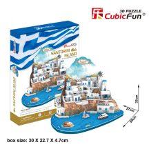 3D puzzle: Santorini island (CSOMAGOLÁSSÉRÜLT) Cubicfun 3D épület makettek