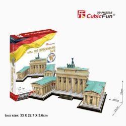 3D puzzle: Brandenburgi kapu CubicFun 3D híres történelmi épület makettek