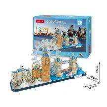 3D puzzle: CityLine London CubicFun 3D híres épület makettek