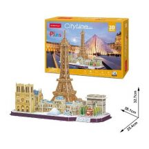 3D puzzle: CityLine Párizs CubicFun 3D híres épület makettek