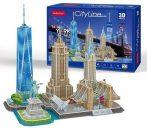 3D puzzle: CityLine New York City CubicFun 3D híres épület makettek