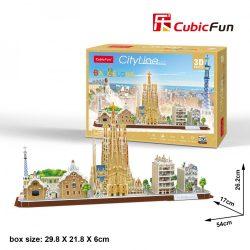 3D puzzle: CityLine Barcelona CubicFun 3D famous historical building