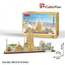 3D puzzle: CityLine Barcelona CubicFun 3D híres épület makettek