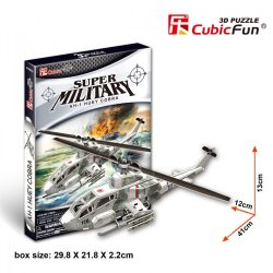 3D puzzle: AH-1 Huey Cobra helicopter CubicFun military vehicle models