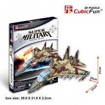 3D puzzle: Sukhoi SU-35 vadászgép CubicFun katonai jármű makettek