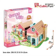3D puzzle: Sweet Villa CubicFun 3D épület makettek