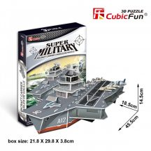 3D puzzle: Charles de Gaulle repülőgép-hordozó anyahajó CubicFun katonai jármű makettek