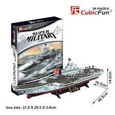 3D puzzle: Liaoning repülőgép-hordozó anyahajó CubicFun katonai jármű makettek