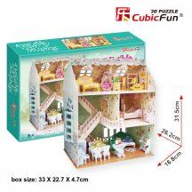 3D puzzle: Babaház CubicFun 3D épület makettek