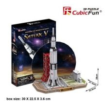 3D puzzle: Saturn V Rocket CubicFun 3D vehicle models