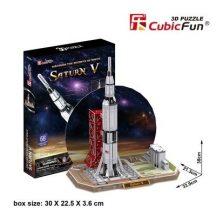 3D puzzle: Saturn V holdrakéta CubicFun jármű makettek