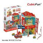 3D puzzle: Fire Rescue CubicFun 3D building models