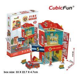 3D puzzle: Tűzoltóállomás CubicFun 3D makett