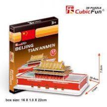 3D kicsi puzzle: Tiananmen CubicFun 3D épület makettek