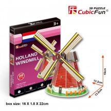 3D kicsi puzzle: Holland szélmalom CubicFun 3D épület makettek