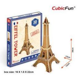 3D kicsi puzzle: Eiffel torony CubicFun 3D épület makettek