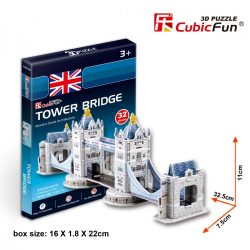 3D small puzzle: Tower Bridge Cubicfun 3D building models